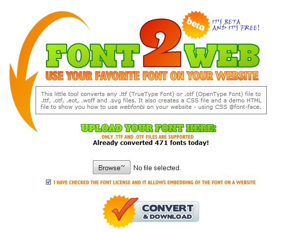 font-to-web
