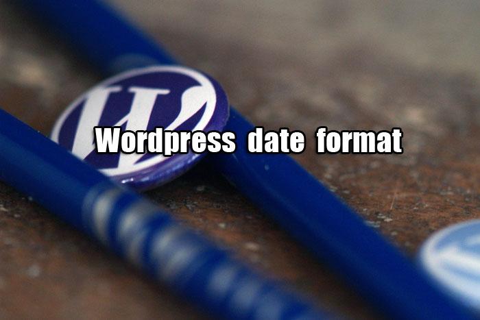 wordpress-date-format